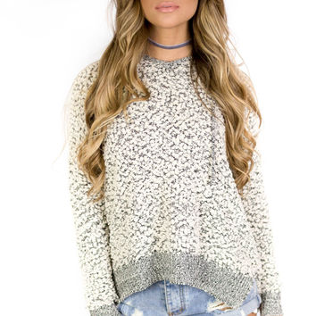Oxford Street Black/Ivory Knit Pullover Sweater