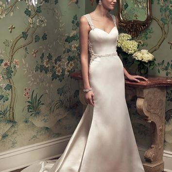 Casablanca Bridal 2218 Satin Tank A-Line Wedding Dress