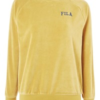 Oversized Velour Sweatshirt by FILA - Sportswear - Clothing