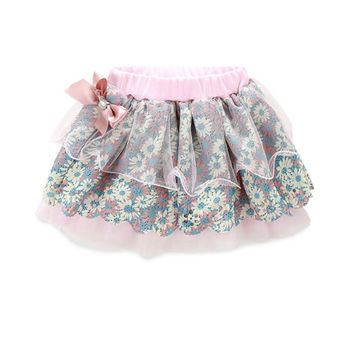 Baby Girl Toddler Ruffle Skirt Nappy Cover Bloomers Skirt Layered Skirt