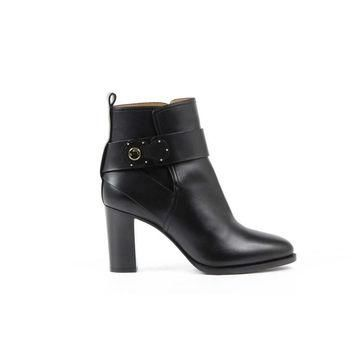 Black 39 EUR - 9 US Ralph Lauren Womens Ankle Boot MEHIRA SPORT CALF BLACK
