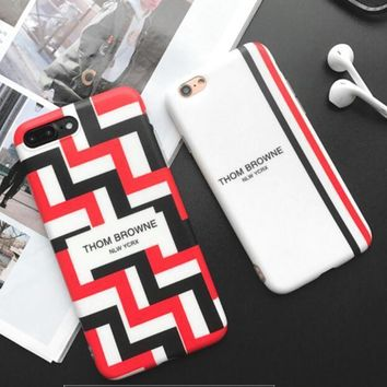 Thom browne letters geometry iPhone 7 7 Plus 6 6s Plus Phone Cover Case soft shell-1