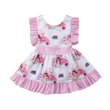 US Fashion Newborn Kids Baby Girls Unicorn Dress Skirt Sundress Outfits Clothes