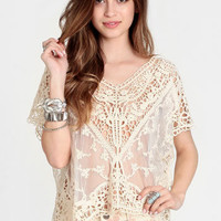 Ginsberg Crocheted Top - $35.00 : ThreadSence, Women's Indie & Bohemian Clothing, Dresses, & Accessories