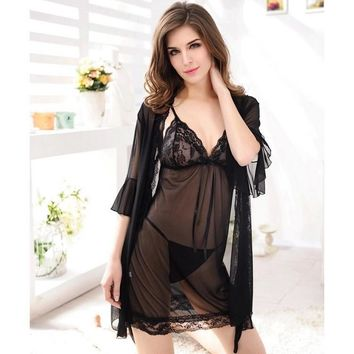 Cute On Sale Hot Deal Sexy Set Lace Transparent Exotic Lingerie [6595695491]