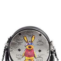 MCM 'Small Rabbit Tambourine' Crossbody Bag - Metallic