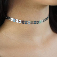Shiny Jewelry Stylish New Arrival Gift Fashion Simple Design Plaid Style Chain Necklace [11424006479]