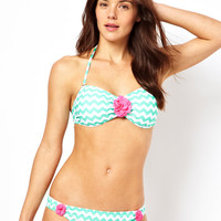 South Beach Chevron Stripe Bikini at ASOS