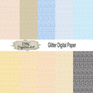 Beige Glitter Digital Paper Green Yellow Scrapbooking Invitations Backgrounds Blogs Cards Stationary Digital Download Labels