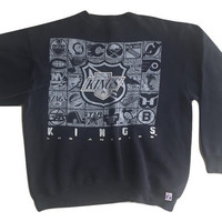 Vintage 1990s Los Angeles Kings Sweatshirt tshirt jersey tee men women clothing