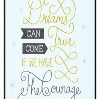 All our dreams can come true if we have the courage to pursue them - Light blue - iPhone 4 / 4s black plastic case / Inspiration Walt Disney quotes