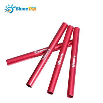 4pcs Aluminium Alloy Tent Pole Repair Tube Single Rod Mending Pipe Diameter 7.9-8.5mm Emergency for Camping Awning Accessory Kit