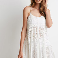 Floral-Embroidered Mesh Dress