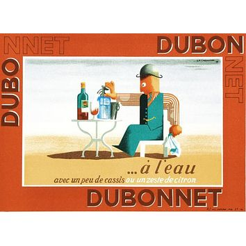 Dubonnet A Leau - Limited Edition Hand Pulled Lithograph on Paper by the RE Society