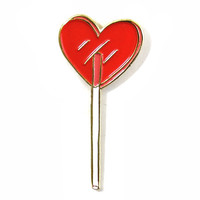 Heart Lolli Pin - Cherry