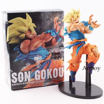 Dragon Ball Figure Super Saiyan Son Goku BWFC BANPRESTO WORLD FIGURE PVC Action Figure Collectible Model Toy 20cm KT4795