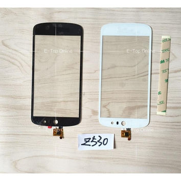 White/black Sensor For Acer Liquid Z530 Screen Digitizer Glass Screen Replacement With Logo + 3M Sticker + tracking