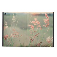 Pink Wild Flowers in a Grass Field iPad Air Cover