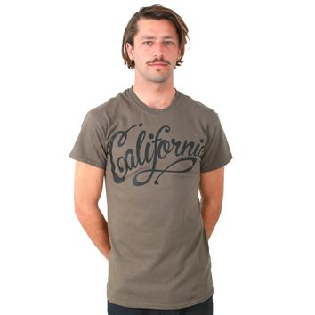California Beach Script Black Print Asst Colors T-shirt/tee