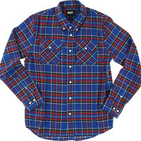 Grizzly Tundra Button-up Longsleeve Large Blue Plaid