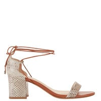 Alexandre Birman Lovely Tie Up Colorblock Sandal | Shop IntermixOnline.com