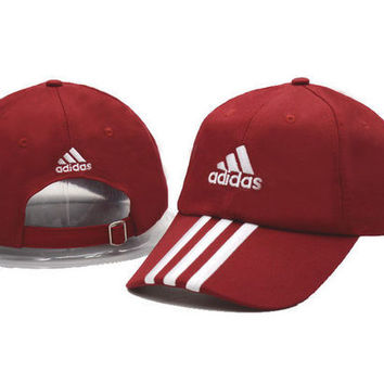 Red Adidas Women Men Sport Sunhat Embroidery Baseball Cap Hat