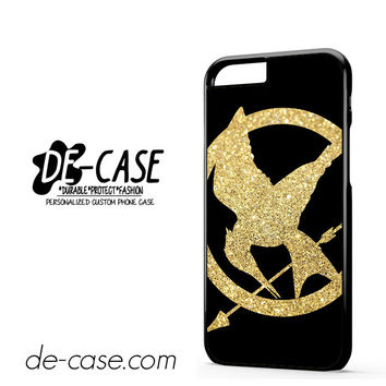 The Hunger Games Glitter Gold DEAL-10780 Apple Phonecase Cover For Iphone 6 / 6S
