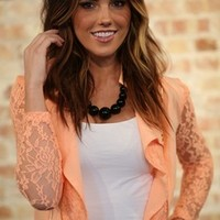 All the Right Moves Lace Jacket Peach