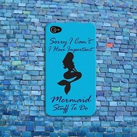 Cute Funny Aqua Blue Mermaid Quote Phone Case iPhone New Cover Cool Girly Girl