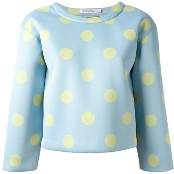 Vivetta polka dot loose fit sweatshirt
