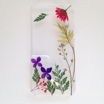 Handmade Real Natural Pressed Flower iphone 6 6 plus case iphone 4s 5 5s 5c case cover samsung galaxy s5 note 2 note 3 case colorful