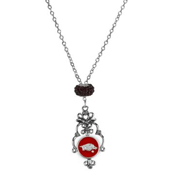 Arkansas Razorbacks - Filigree Necklace