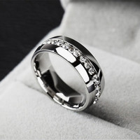 New Arrival Stylish Shiny Gift Jewelry Stainless Steel Ring [11597566031]