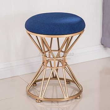 Antique Metal Base Round Stools For Home Furniture