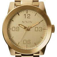 Men's Nixon 'The Corporal' Bracelet Watch, 48mm - Gold
