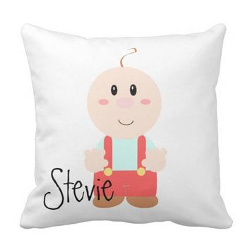 Personalized Name Keepsake Baby Boy Pillow