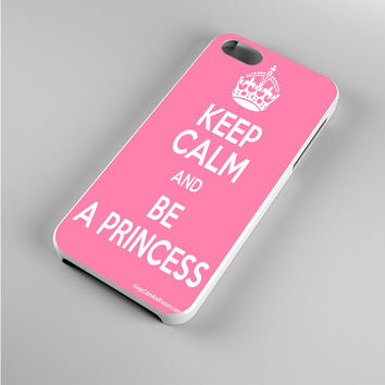 Keep calm and be a princess Pink Iphone 5s Case