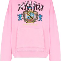 Pink Beverly Hills Embroidery Hoodie by Amiri