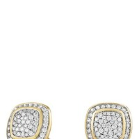 Women's David Yurman 'Albion' Earrings with Diamonds in 18k Gold