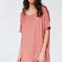Silence + Noise Knotted Hem Dolman Tee Mini Dress - Urban Outfitters