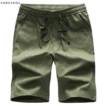 Men Summer Military Shorts Cotton Clothing Army Green Print Shorts