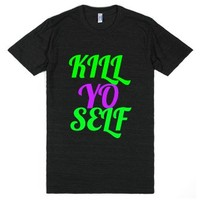 K.y.s Kill Yo Self (version 1)-Unisex Athletic Black T-Shirt