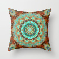 Bohemian Snowflake Throw Pillow by Webgrrl