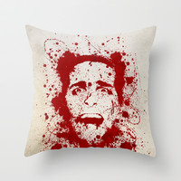 American Psycho Throw Pillow by David