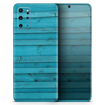 Signature Blue Wood Planks - Skin-Kit for the Samsung Galaxy S-Series S20, S20 Plus, S20 Ultra , S10 & others (All Galaxy Devices Available)