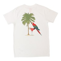 Green Thumb Resort, white Pocket Graphic Tee printed on front & back by Altru Apparel