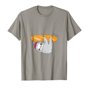 Bonjour! French sloth shirt with Baguette for sloth lovers