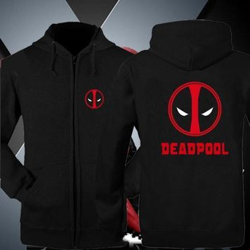 Deadpool Dead pool Taco  Zip Up Hoodies Jackets for men Coats Wade Wilson Hooded Death Pool Pure Cotton Sweatshirts Thick Winter Clothes AT_70_6
