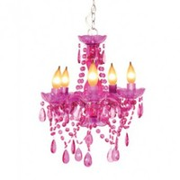 Wake Up Frankie - 5 Light Fuchsia Chandelier  - 5 Light Fuchsia Chandelier : Teen Bedding, Pink Bedding, Dorm Bedding, Teen Comforters
