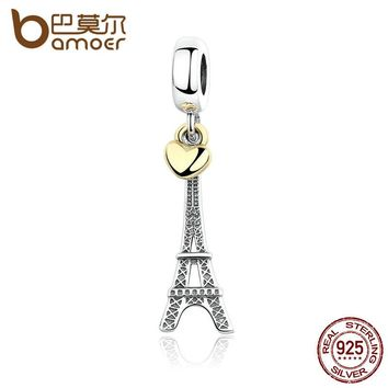EIFFEL TOWER PENDANT CHARM with Heart Charms fit Bracelets